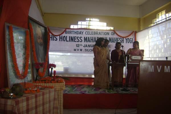 Birthday Celebration Of Holiness Maharishi Mahesh Yogi From MVM Silchar